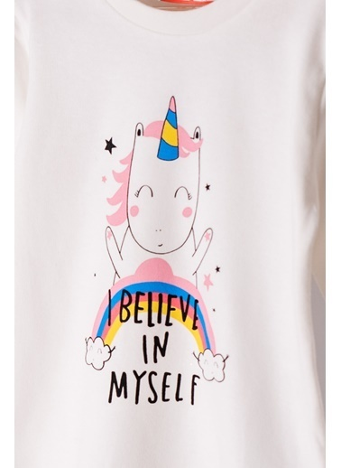 Zeyland Unicorn Baskılı Pijama Takımı (1-4yaş) Unicorn Baskılı Pijama Takımı (1-4yaş) Renkli